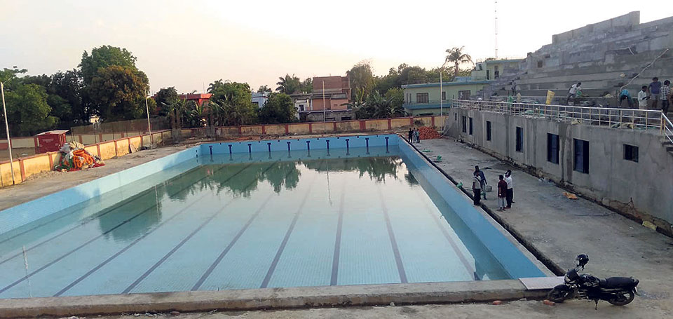 Swimming pool fails to meet int'l requirement