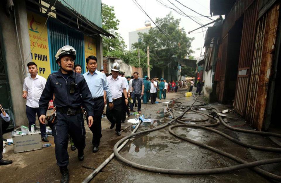 Workshop fire kills 8 in Vietnam's capital