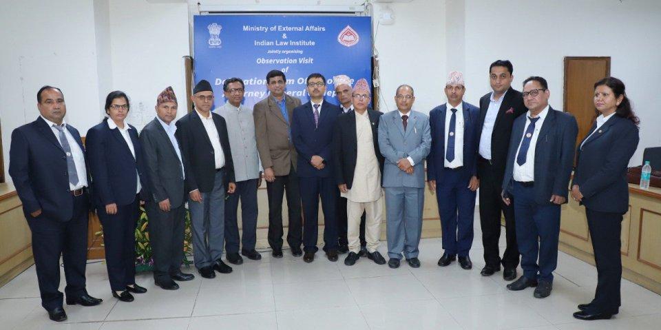 Attorney General Kharel-led Nepali delegation reaches Gujarat