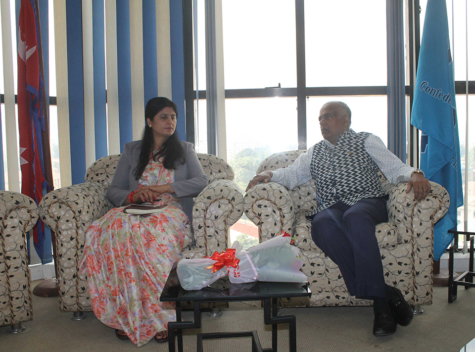 CNI meets Nepal's economic counselor to India