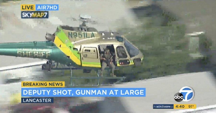 Shooter at large after LA deputy shot at sheriff's station