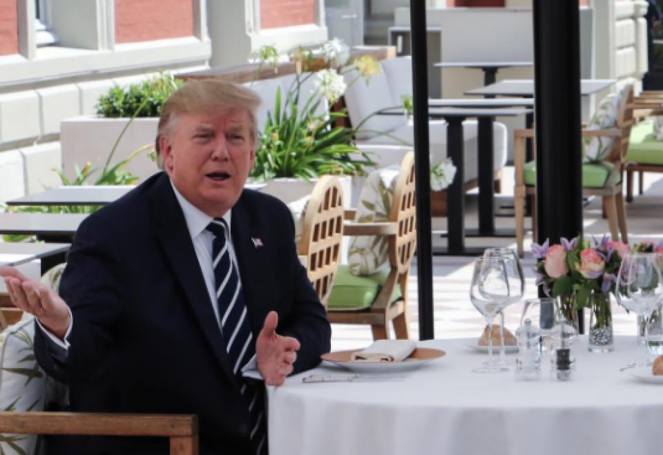 'So far so good', says Trump after G7 arrival
