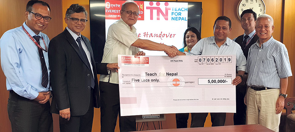 Everest Bank continues support for Teach for Nepal