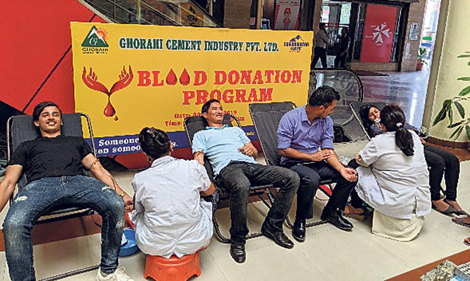 Ghorahi Cement organizes blood donation drive