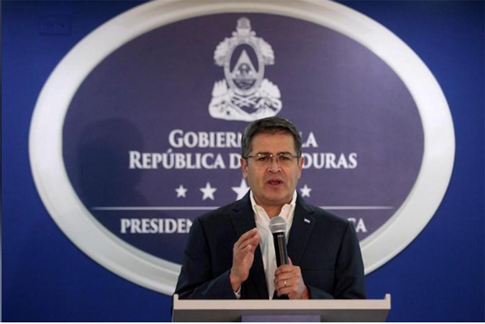 Honduran president denies links to drug trafficking