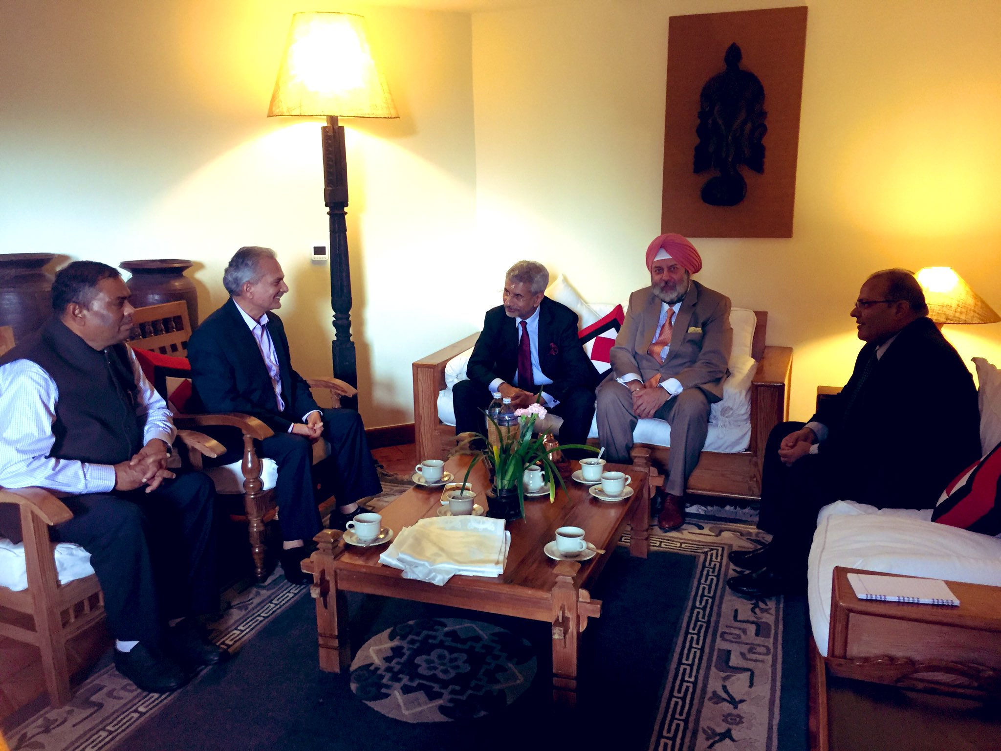 Bhattarai, Yadav hold meeting with India's foreign minister