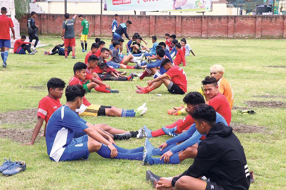 Nepal U-18 football team starts preparations for SAFF