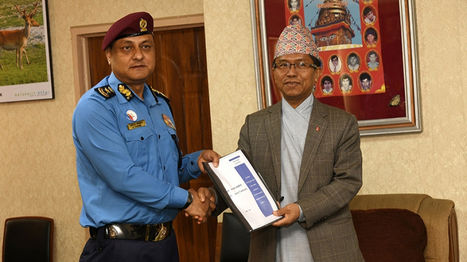 Nepal Police, Home Ministry sign work performance deal