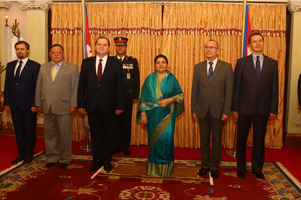 Four ambassadors present letter of credence to President Bhandari