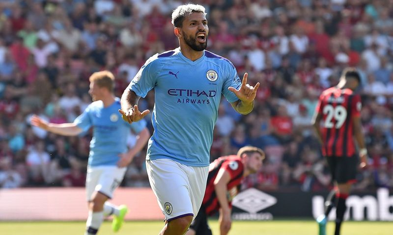 Aguero strikes again as City win at Cherries