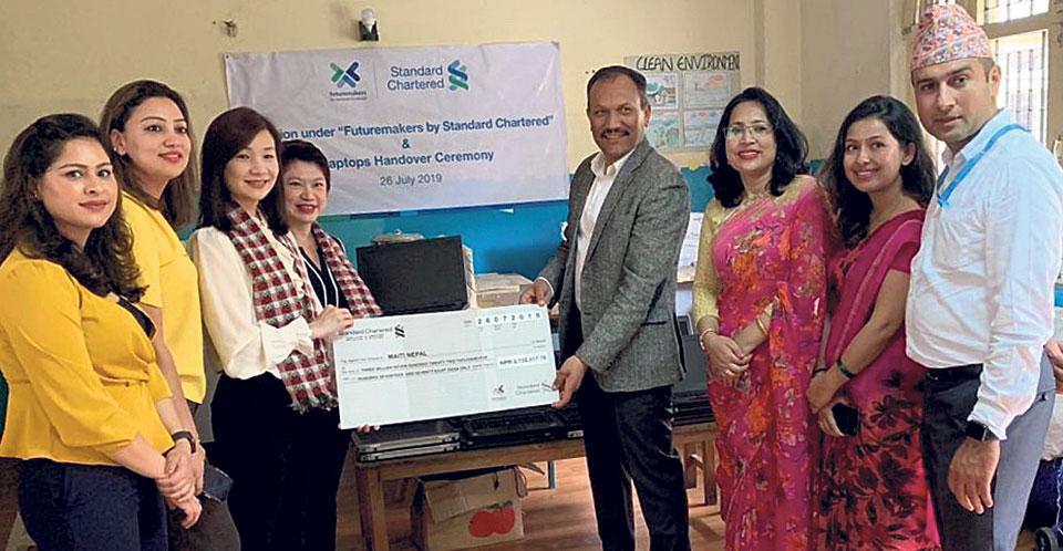 Standard Chartered donates Rs 3.7 million to Maiti Nepal