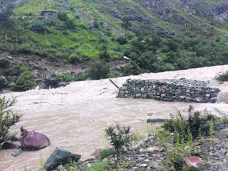 Flood sweeps away bridges leading to Phoksundo Lake
