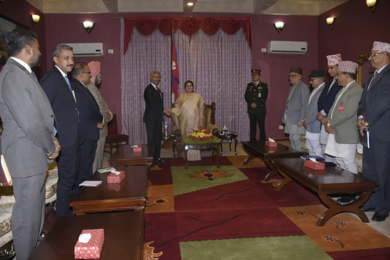 IN PICTURES: Indian foreign minister calls on Prez Bhandari