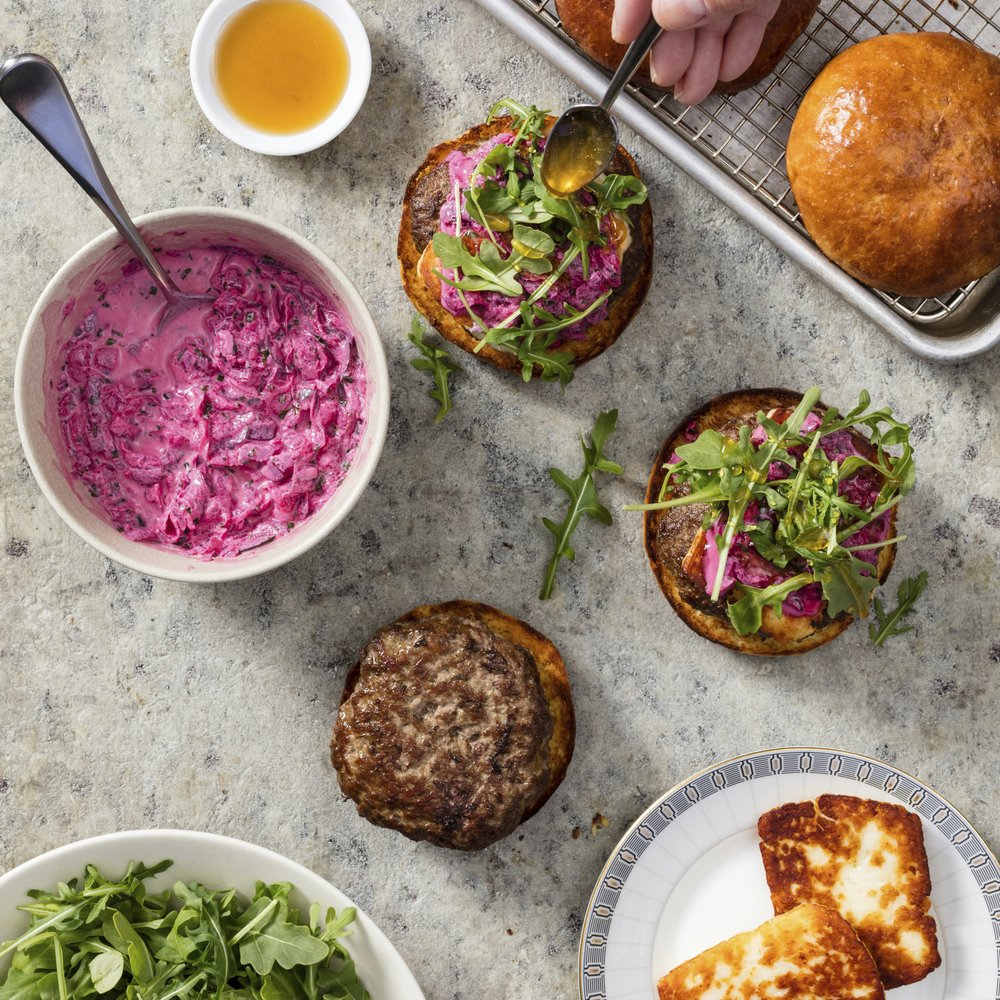 A burger that could transport you to the Greek islands