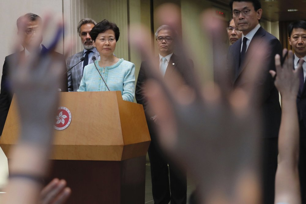 Hong Kong leader Lam says priority is to stop violence