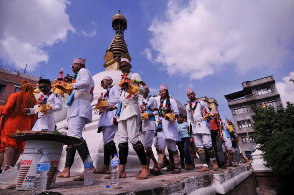 People celebrate Matya festival