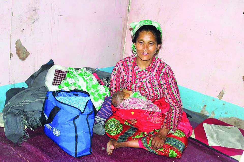 Neglected for giving birth to a baby girl