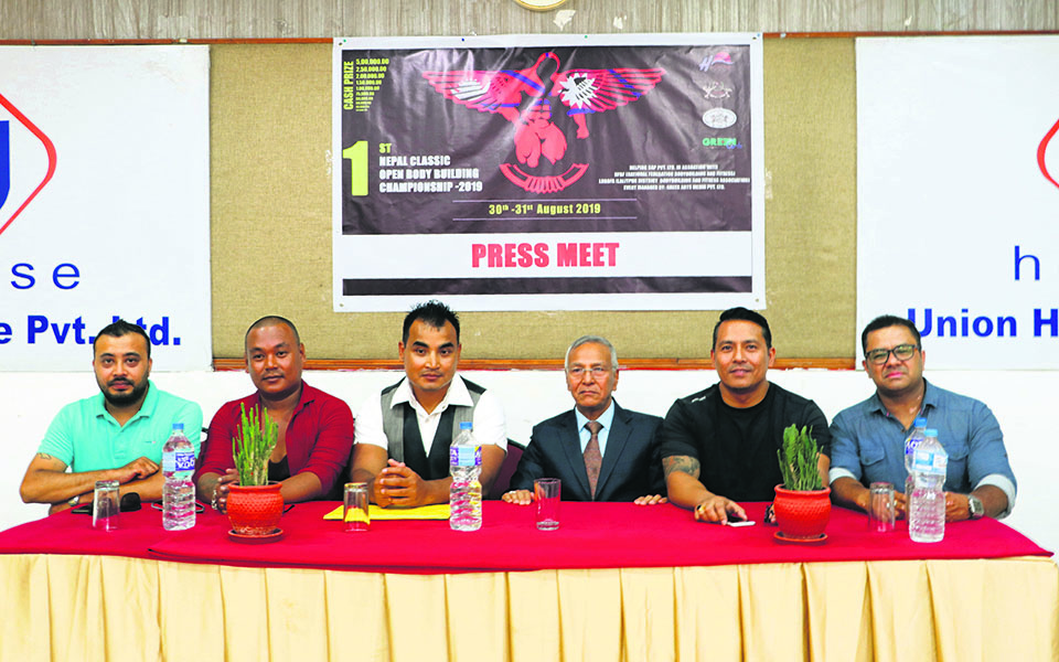 First-ever Nepal Classic Open Bodybuilding C'ship in Aug-end
