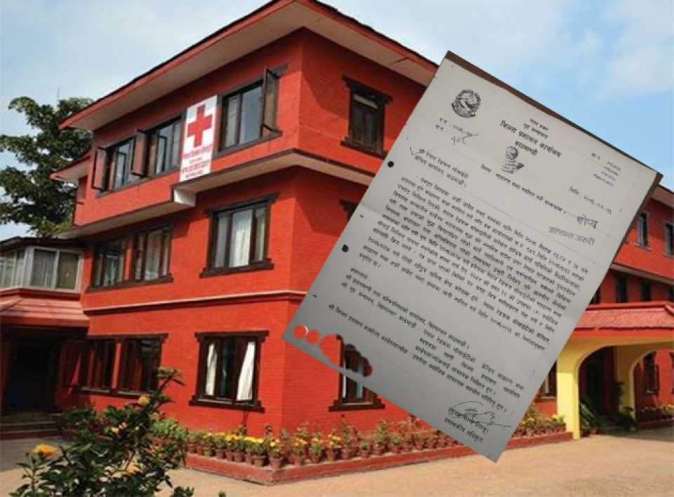 DAO Kathmandu seeks clarification from Nepal Red Cross Society over alleged financial irregularities (with document)