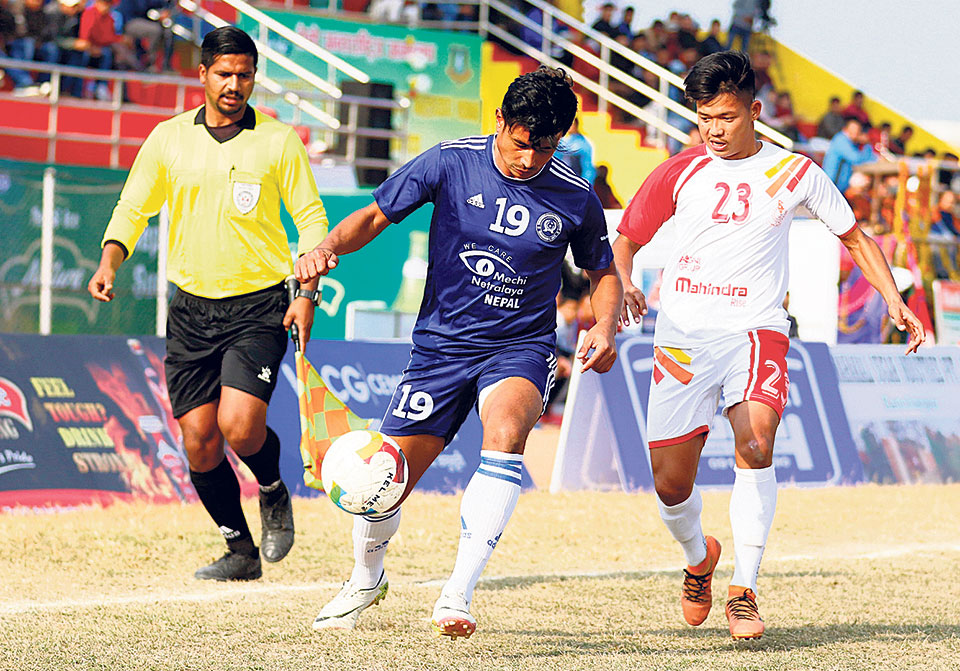 Kakarbhitta defeats heavyweight APF to reach Khaptad semis