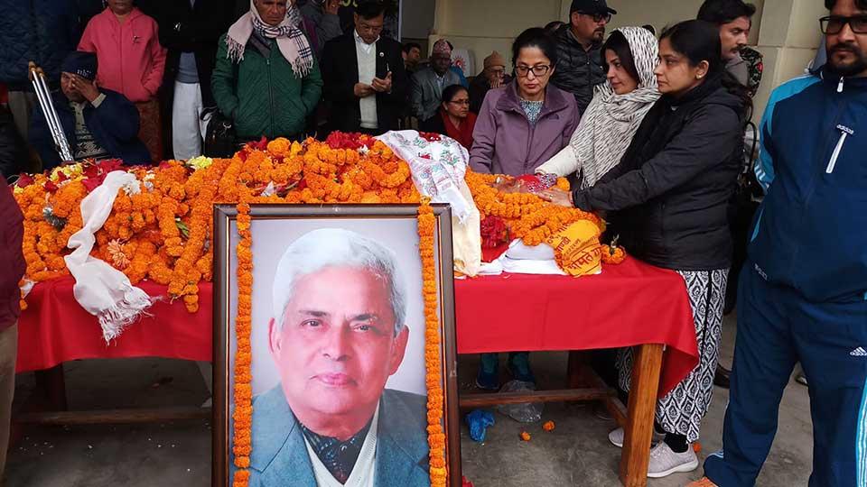 NCP passes condolence motion on demise of its senior leader Adhikari