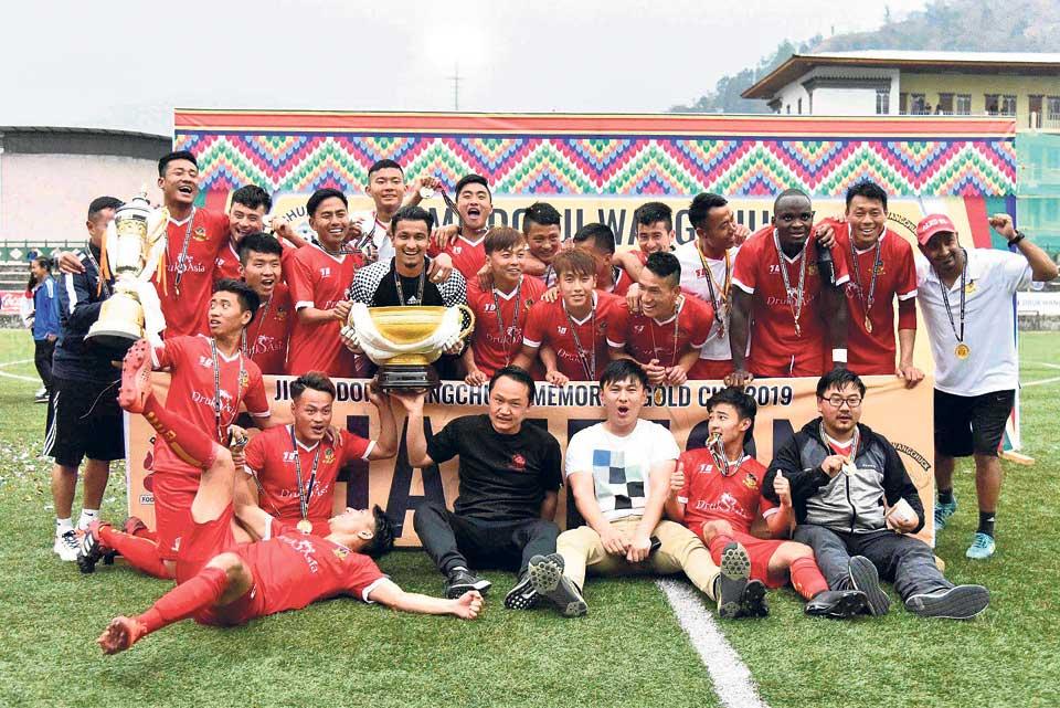 Paro defeats Three Star to lift Jigme Dorji title at home