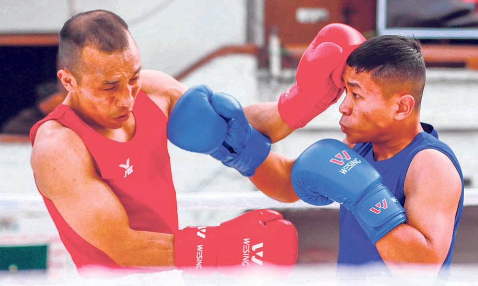Dinesh Shrestha into Bir Ganeshman Boxing semis