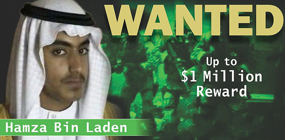 Hamza bin Laden loses Saudi citizenship after US offers $1m reward