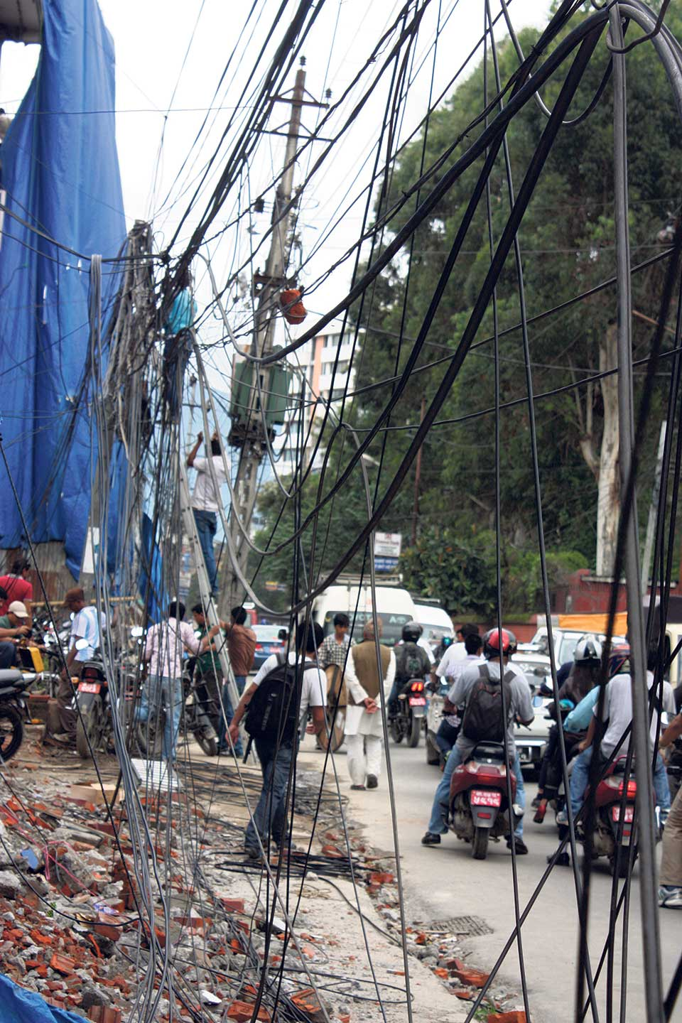 Underground wires to beautify Kathmandu