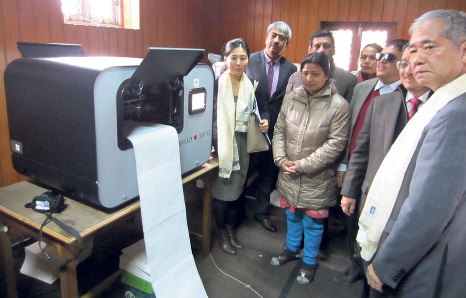 Japanese embassy donates Braille printers to NAWB