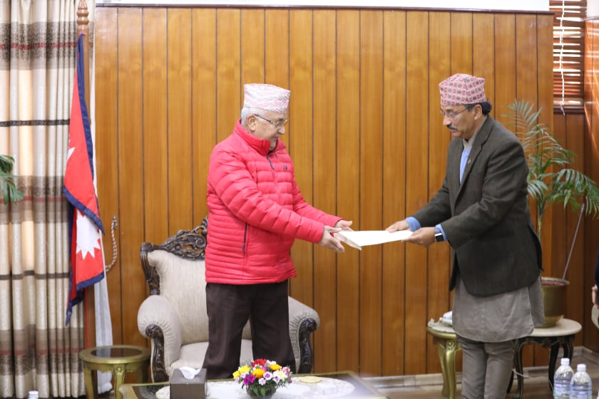 RPP submits 22-point demands to Prime Minister Oli