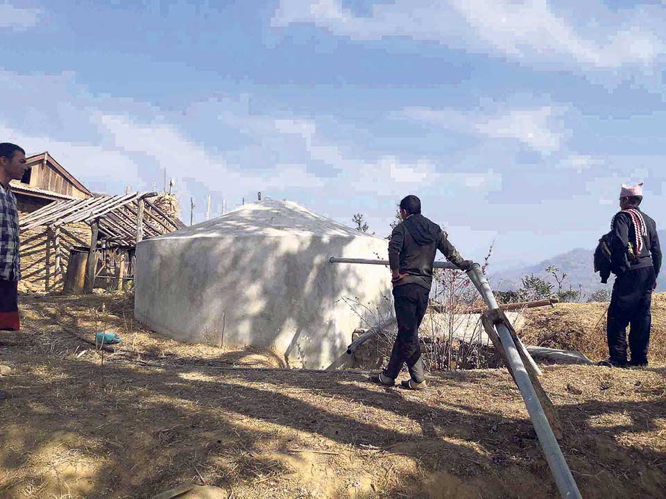 Khotang lift drinking water project nears completion