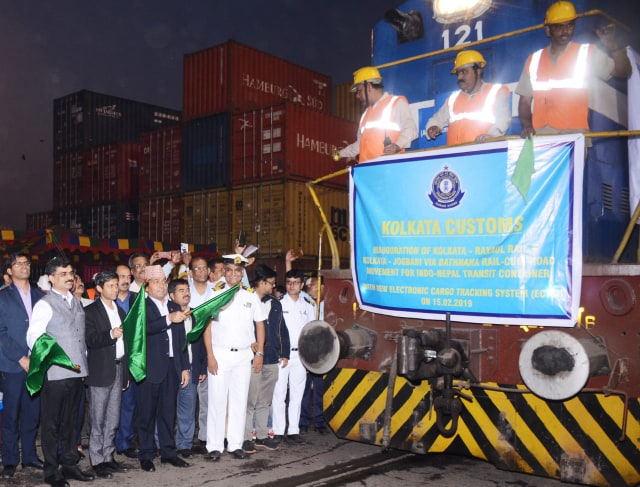 Electronic Cargo Tracking System launched to facilitate transport of Nepal-bound containers from Kolkata port