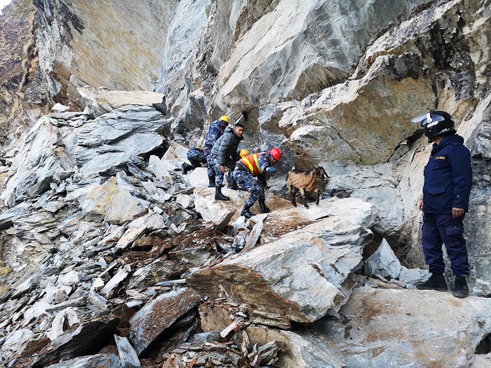 Landslide leaves one dead; two injured