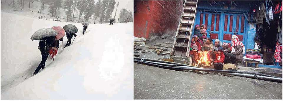 Heavy snowfall shuts down schools in Mugu