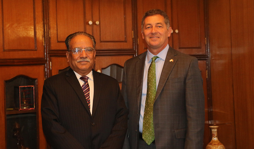Amid diplomatic tension, US Ambassador meets NCP Chairman Dahal over Venezuela statement