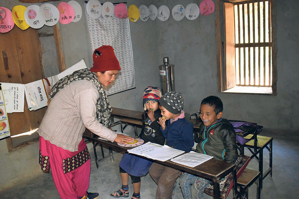 Rolpa community schools losing students to private schools