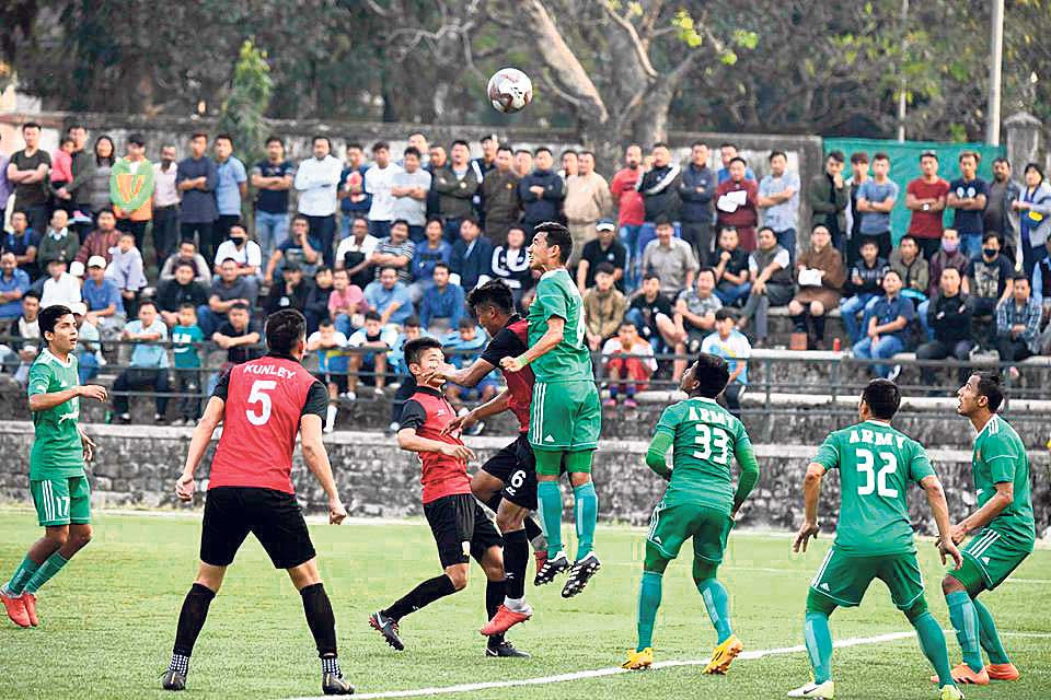 Army scores six against Bhutanese club as Three Star targets semifinals