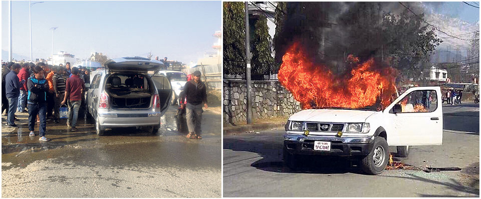 NSU cadres torch four govt vehicles, take scores in control