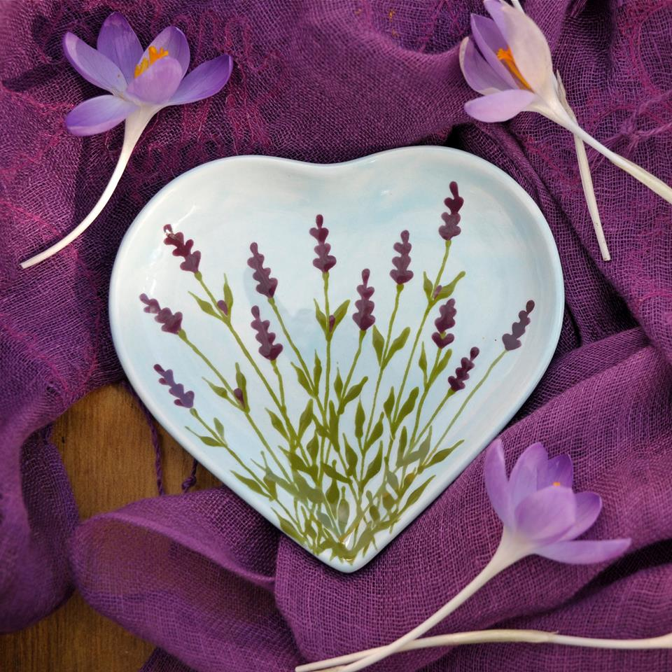 How about lavender instead of red for Valentine home setting