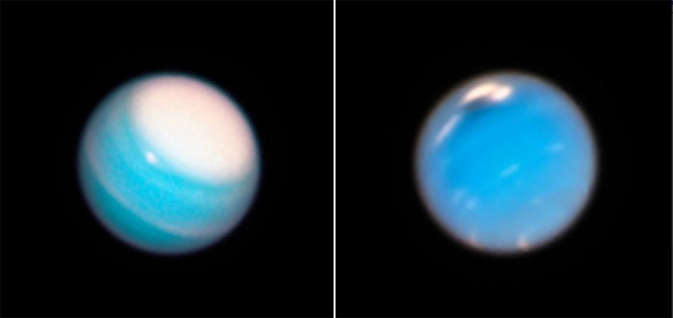 NASA's Hubble telescope uncovers Neptune's new 'mysterious dark vortex,' Uranus' giant white cap