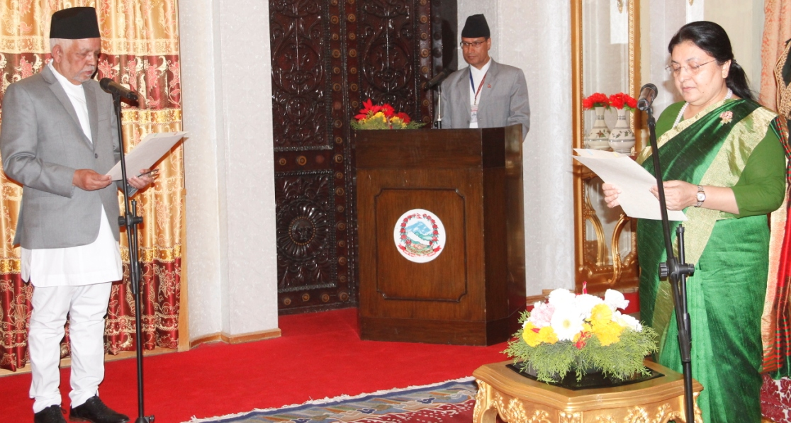 Prez administers oath to newly appointed Nepal's ambassador to India