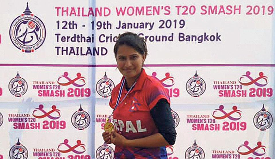 Debutant Bidari spins Nepal to dominant win over Thailand A