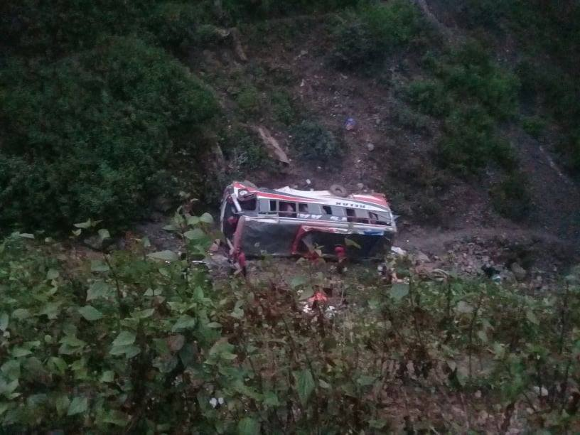 Two killed in Rolpa bus accident