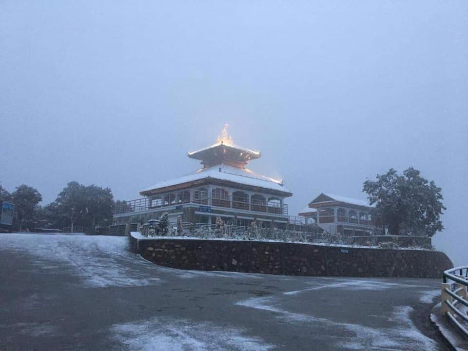 Chandragiri covered in thick snow (with photos)