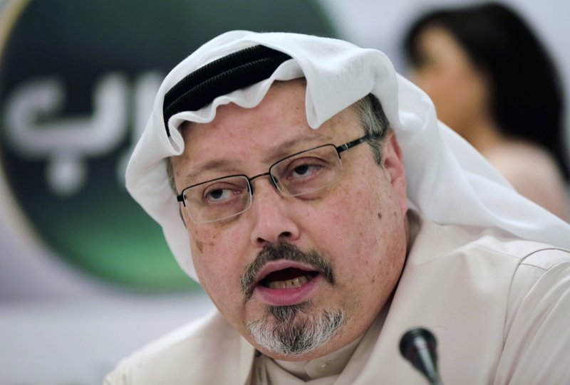 Suspects in Khashoggi's killing brought before Saudi court