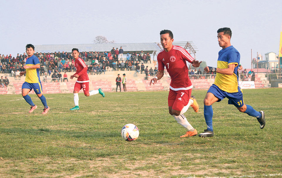 Police defeats Bhutanese team to enter Madan Bhandari semis