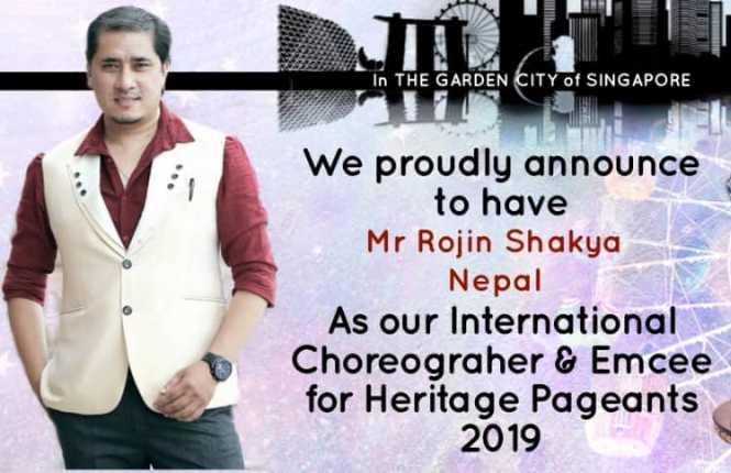 Rojin Shakya to choreograph International pageant Heritage Pageants 2019