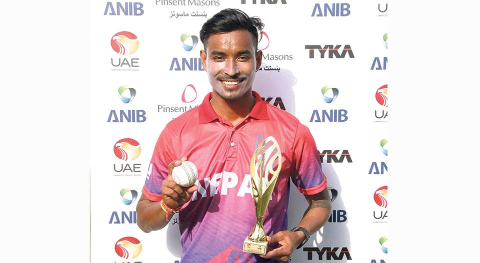 Kami, Lamichhane register best bowling figures tie ODI series against UAE