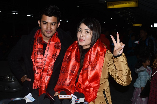 Pooja and Aakash in London